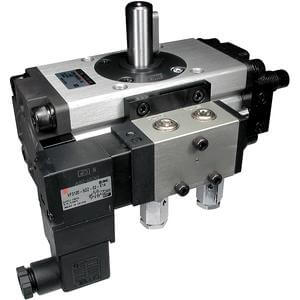 C(D)VRA1*U, Rotary Actuator, Angle Adjustable with Valve