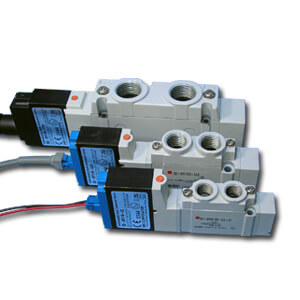 52-SY7*20, 5 Port Solenoid Valve ATEX Type, Base Mounted