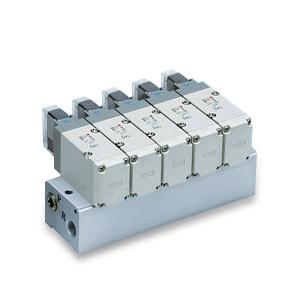 VV3P5, Řada VP500, Vícenásobná připojovací deska - pro elektromagneticky ovládané 3/2 ventily