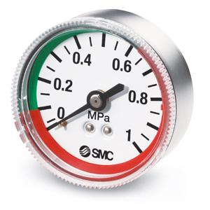 G#-L, Manómetro con indicador de límite, Modelo con zonas en colores