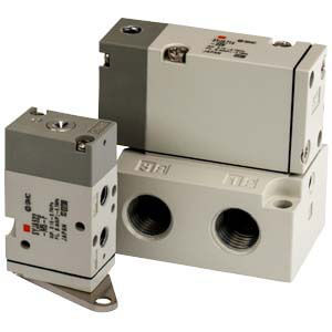 SYJA500 & 700, 3-Port Air Operated Valve, All Types