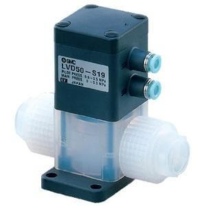 LVD-S, 2 Port, High Purity Chemical Valve, Integral Fitting Type