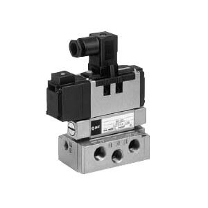 VS7-6, Elektromagnetický nepřímo ovládaný 5/2 a 5/3 ventil, dle ISO1, ocelové těsnění
