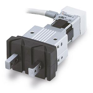 LEHZJ, Elektrická paralelní úchopná hlavice, 2 čelisti, kompaktní provedení, krycí manžeta