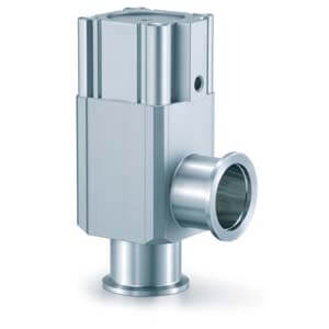 XLA, Aluminum High Vacuum Angle Valve, Normally Closed/Bellows Seal