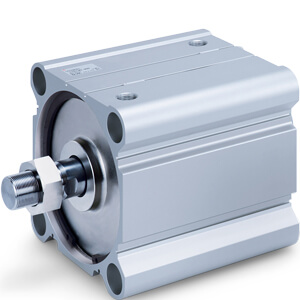 55-C(D)Q2, Compact Cylinder, Double Acting, Single Rod, Large Bore w/Auto Switch Mounting Groove, ATEX category 2 - II 2GDc