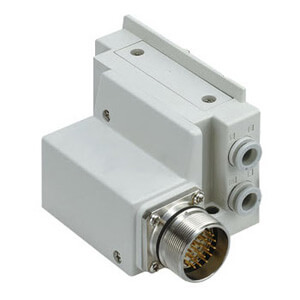 SS5Y5-12M, 5000 Series Manifold, Circular Connector (IP67)