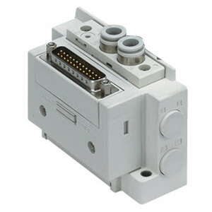 SS5Y5-12, 5000 Series Manifold, D-sub Connector, Flat Ribbon Cable, PC Wiring System (IP40)