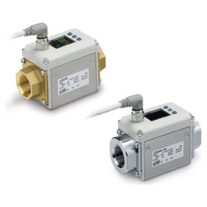 LFE, Digital Liquid Flow Sensor, Electromagnetic, 2-Screen 3-Color Display, IP65, 0.5-200 Lpm
