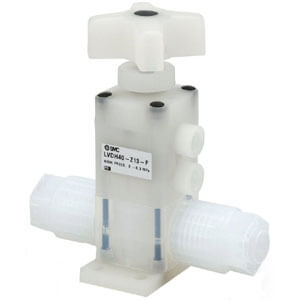 LVDH-V**-F/FN High Purity Chemical Valve, Manually Operated, Insert Bushing, Integral Fittings