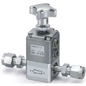 LVH*-AD/ND,  High Purity Chemical Valve, Manually Operated, Organic Solvent Compatible