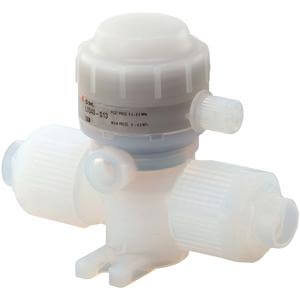 LVQ**H-S, 2 Port Chemical Valve, Air Operated for Back Pressure 0.5MPa, Integral Fitting Type