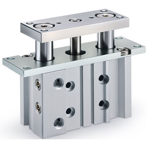 MGPMF-Z, Standard Guided Cylinder with Flange, Slide Bearing