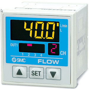 PF2*20, 4-Channel Digital Flow Monitor, 1-Color Display, IP65, for PF2*5 Sensors