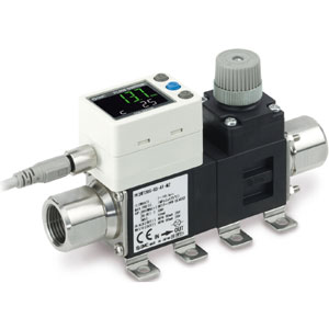 PF3W7, Digital Water Flow Sensor, 2-Screen 3-Color Display, IP65, 0.5-250 Lpm