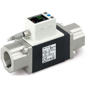 PF3W7-L, Digital Water Flow Sensor, IO-Link, 2-Screen 3-Color Display, IP65, 0.5-250 Lpm