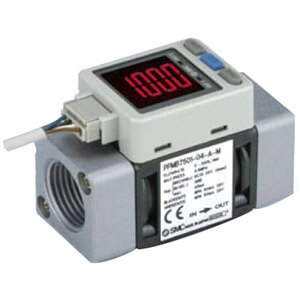 25A-PFMB, Digital Air Flow Sensor, 2-Color Display, IP40, 5-2000 Lpm, Secondary Battery