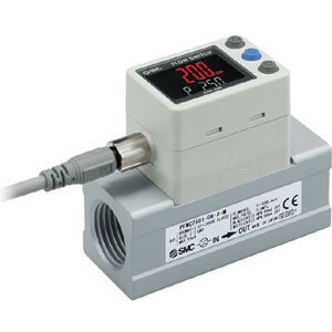 PFMC, Digital Flow Switch, 3-Color Display (5 to 500, 10 to 1000, & 20 to 2000 L/min)