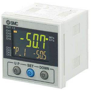 PSE200A, Multi-Channel Digital Pressure Sensor Monitor, 3 Screen 3 Color, 4 Input/5 Outputs, IP65, IO-Link