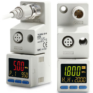 PSE300AC, Pressure Sensor Monitor, 3 Screen, 2 Outputs, IP65