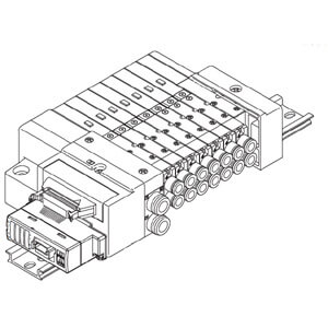 SS5Q13-SB, 1000 Series Plug-in Manifold for Series EX510 Gateway Serial Transmission System, New
