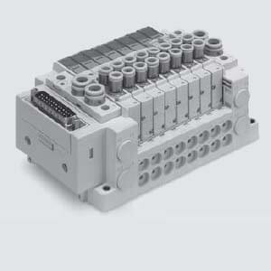SS5Y7-12SN, 7000 Series Manifold for Series EX260 Integrated Type (For Output) Serial Transmission System (IP67), Top Ported