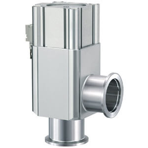 XL*V-2, Aluminum High Vacuum Angle Valves, Air Operated w/Solenoid Valve