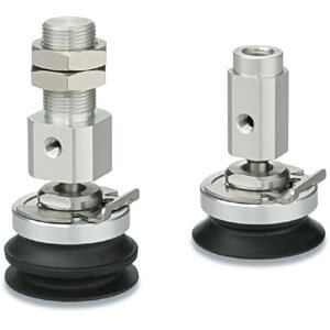 ZP3E-YF, Compact Pad, Lateral Vacuum Inlet w/Ball Joint Adapter
