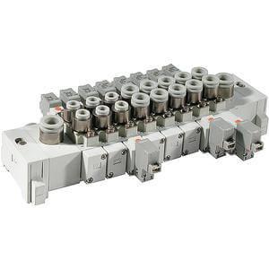 SS5Y5-60, řada 5000, Vícenásobná připojovací deska - pro ventily se závity v tělese, kazetové provedení