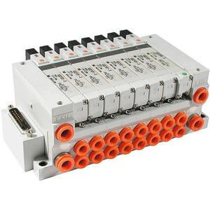 10/21-VV5Q21, 2000 Series, Base Mounted Manifold, Plug-in Unit, Clean Series