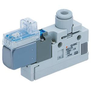 VQZ115, 100 Series,  3 Port Solenoid Valve, Body Ported