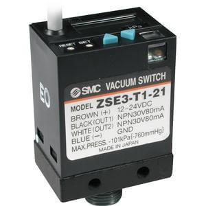 ZSE3, Digital Pressure Switch, For Vacuum, LCD Readout