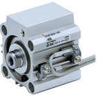 C(D)QP2B, Compact Cylinder, Double Acting, Single Rod, Axial Piping
