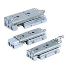 MXQ*C, Precision Slide Table (Recirculating Bearings) - Single Side Ported