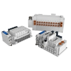 SY Plug-in Connector Connecting Base for EX600 and Other Fieldbus Options