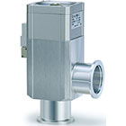 XLDV, Aluminum High Vacuum Angle Valves, Air Operated w/Solenoid Valve